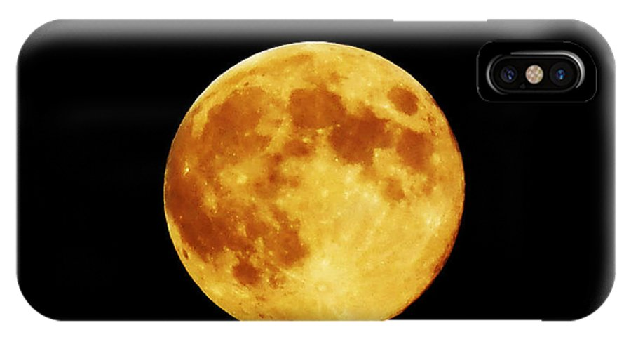 Moon IPhone X Case featuring the photograph Blue Moon 3 by Catherine Rogers