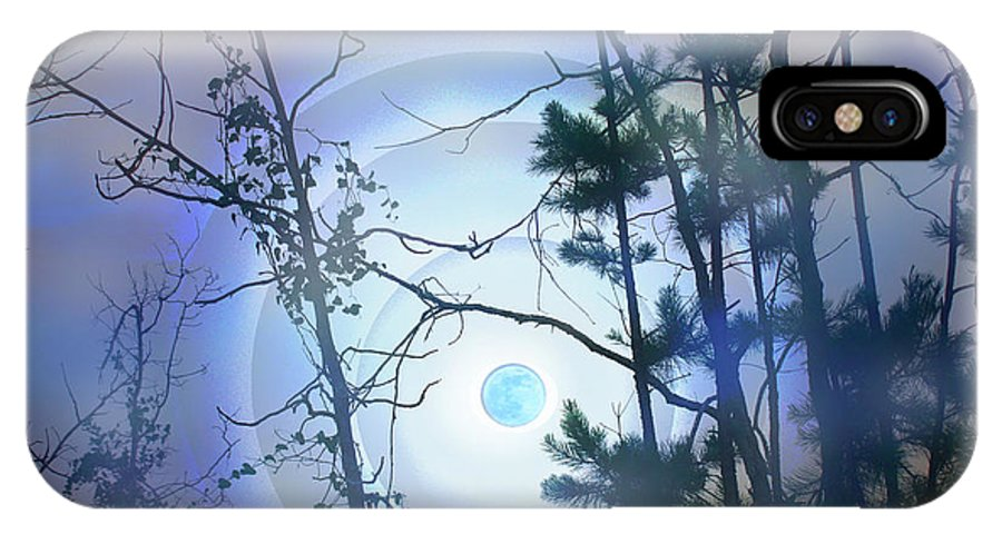 Landscape IPhone X Case featuring the photograph Blue Moonlight by Nina Fosdick