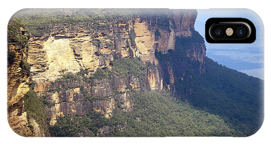 Australia IPhone X Case featuring the photograph Blue Mountains Australia by Tim Hester