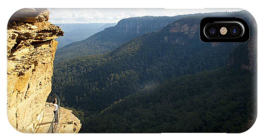 Australia IPhone X Case featuring the photograph Blue Mountains Walkway by Tim Hester