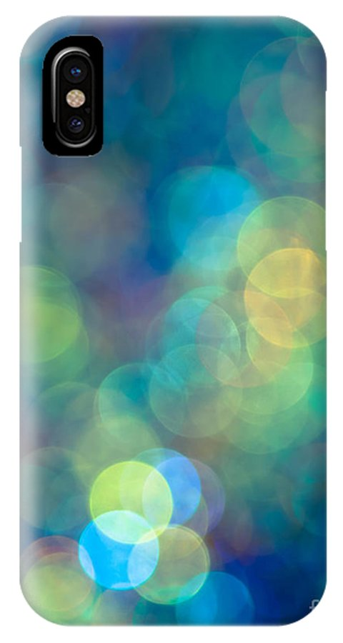 Abstract IPhone X Case featuring the photograph Blue Of The Night by Jan Bickerton