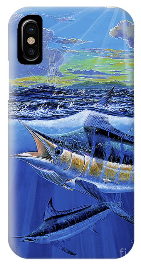 Blue Marlin IPhone X Case featuring the painting Blue Pitcher Off00115 by Carey Chen