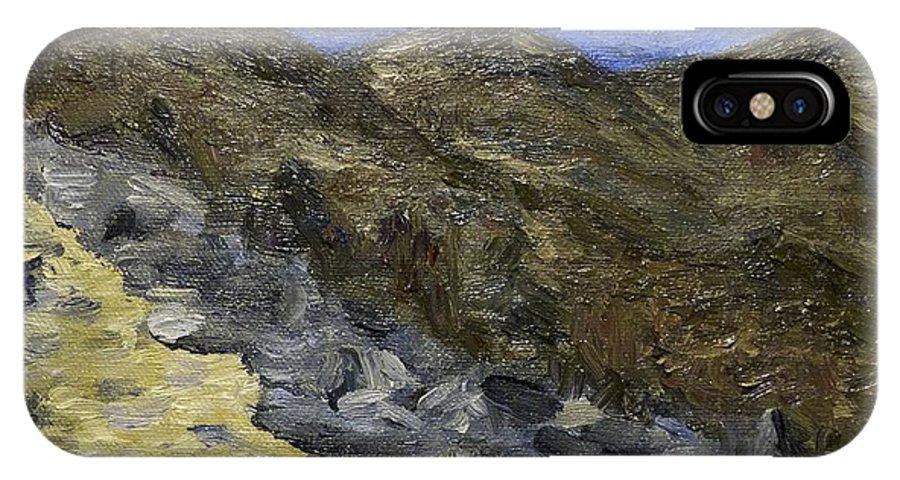 Blue Ridge Mountains IPhone X Case featuring the painting Blue Ridge 1 by Jennifer Viola