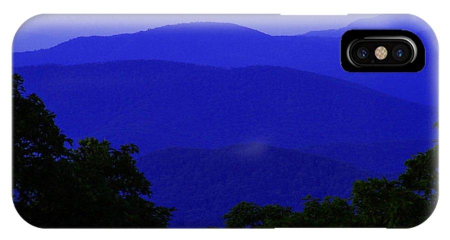 Blue Ridge IPhone X Case featuring the photograph Blue Ridge Mountains by Guy Shultz
