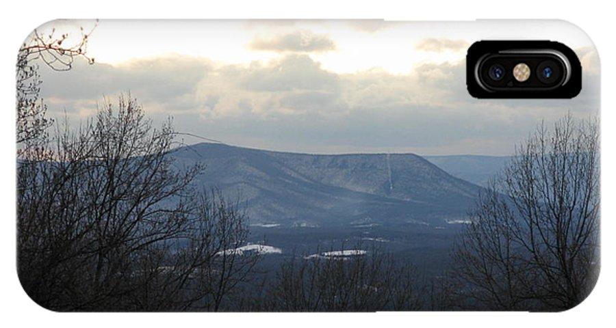 Blue Ridge Mountain Photos IPhone X Case featuring the photograph Blue Ridge Mountains In Winter by Laura Corebello