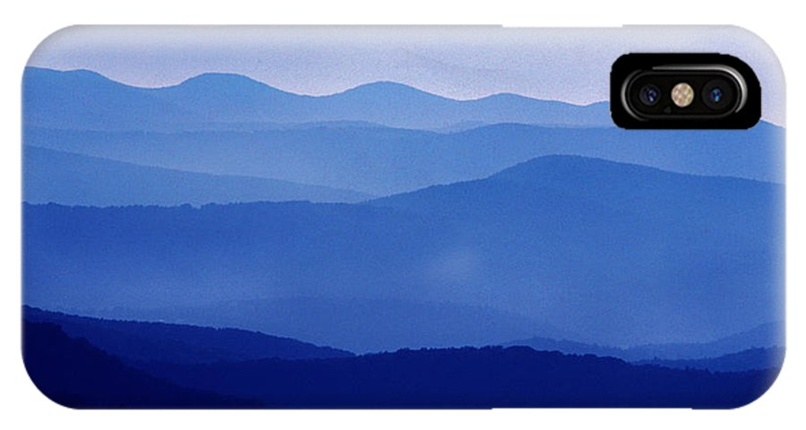Blue Ridge Mountains IPhone X Case featuring the photograph Blue Ridge Mountains Shenandoah National Park by Thomas R Fletcher