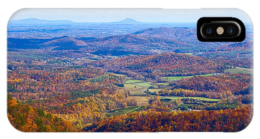 Blue IPhone X Case featuring the photograph Blue Ridge Parkway Overlook by Les Palenik