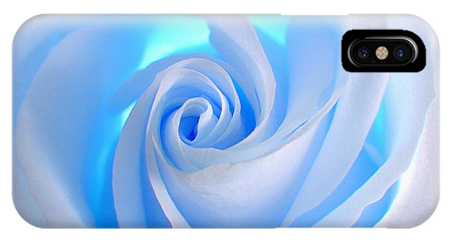 Rose IPhone X Case featuring the photograph Blue Rose by Ben Lavitt