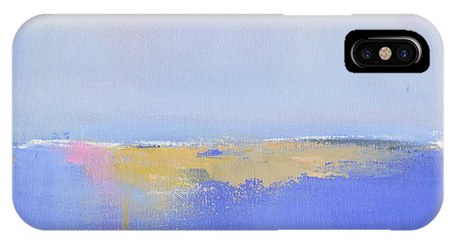 New England IPhone X Case featuring the painting Blue Silences by Jacquie Gouveia