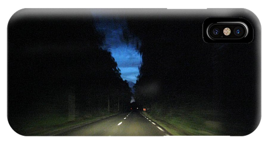 Night Scene IPhone X Case featuring the photograph Blue Sky At Night by Gill Piper