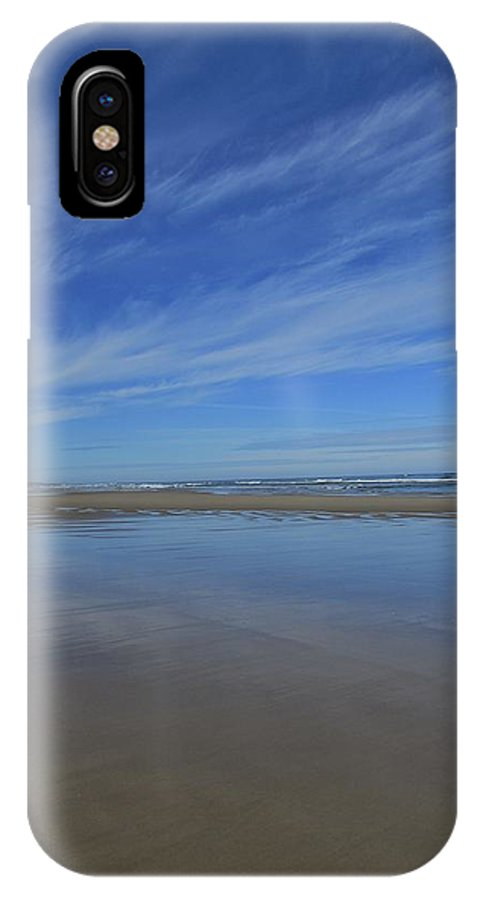 Yachats IPhone X Case featuring the photograph Blue Sky Reflections by Amanda Roberts