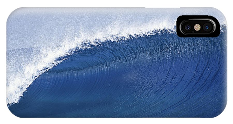 Sea Wave IPhone X Case featuring the photograph Blue Spinner by Sean Davey