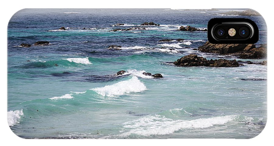 Blue Surf IPhone X Case featuring the photograph Blue Surf by Carol Groenen