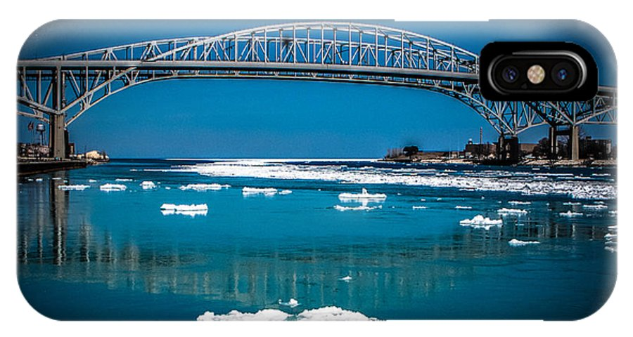Blue Water Bridge IPhone X Case featuring the photograph Blue Water Bridge Reflection by Grace Grogan