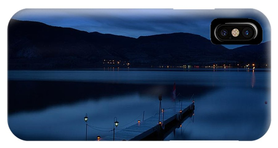 Blue Hour IPhone X Case featuring the photograph Bluehour - Skaha Lake 4-2-2014 by Guy Hoffman