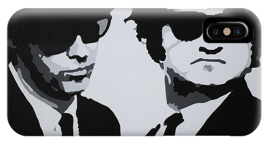 Blues Brothers IPhone X Case featuring the painting Blues Brothers by Katharina Filus