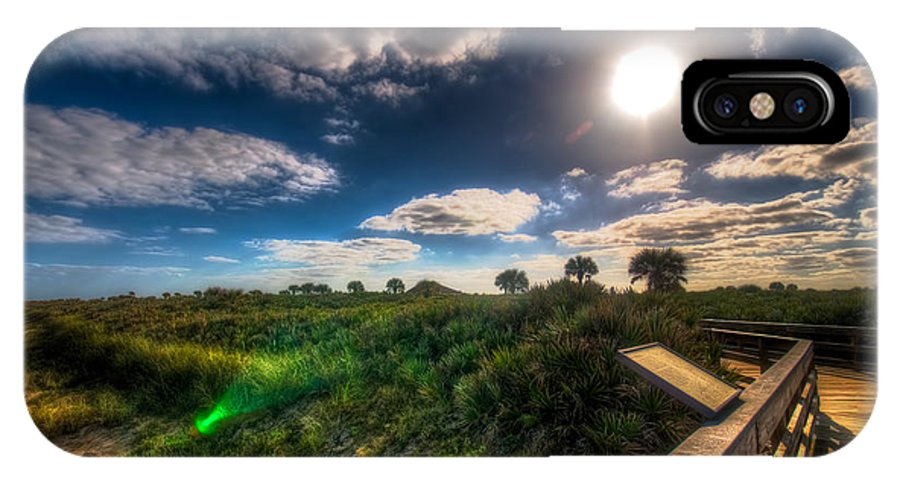 Florida IPhone X / XS Case featuring the photograph Boardwalk And Dunes by Michael Schwartzberg