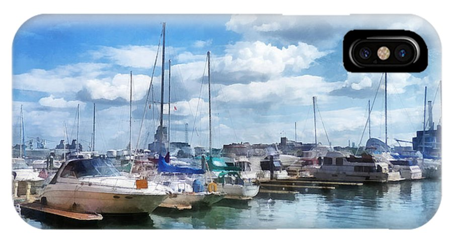 Boat IPhone X Case featuring the photograph Boat - Boat Basin Fells Point by Susan Savad