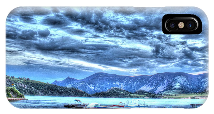 Boats IPhone X Case featuring the photograph Boat Dock At Holter Lake by John Lee