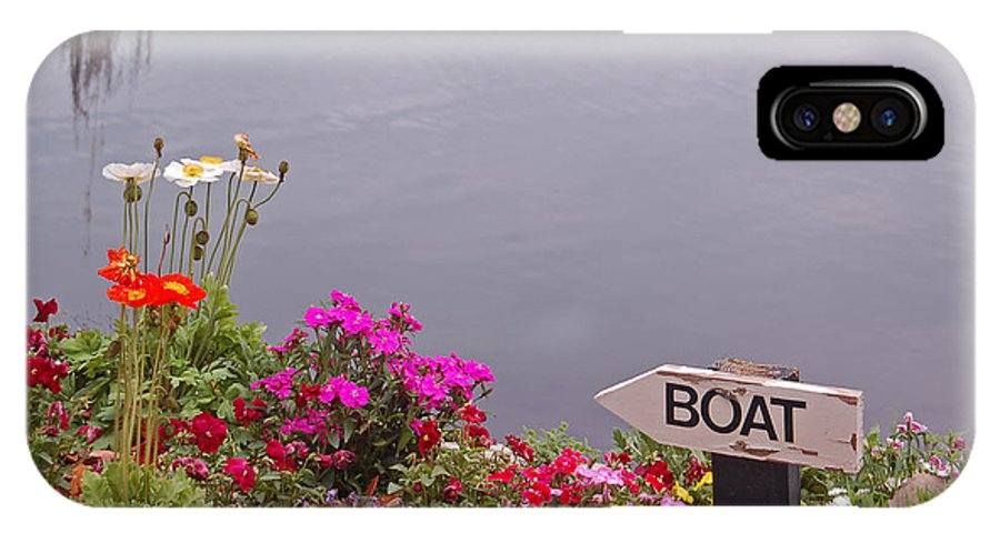 Boat IPhone X Case featuring the photograph Boat by Suzanne Gaff