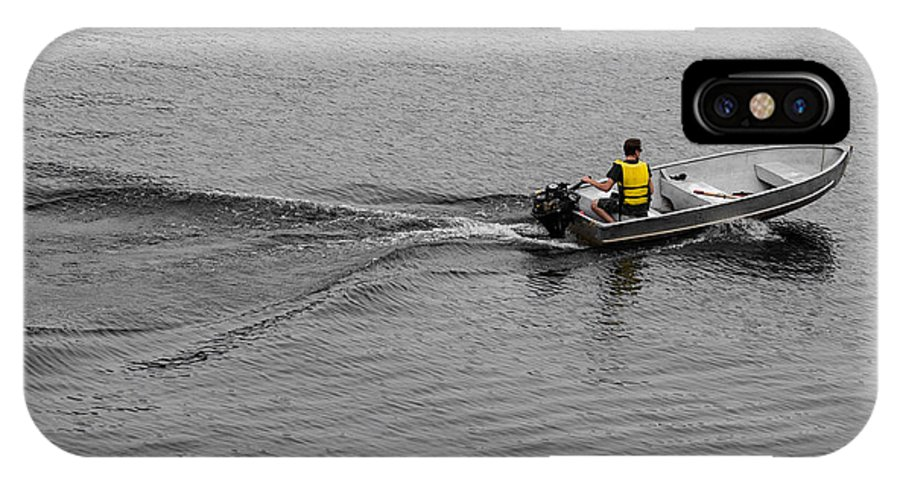 Boat IPhone X Case featuring the photograph Boat Wake by Gaurav Singh