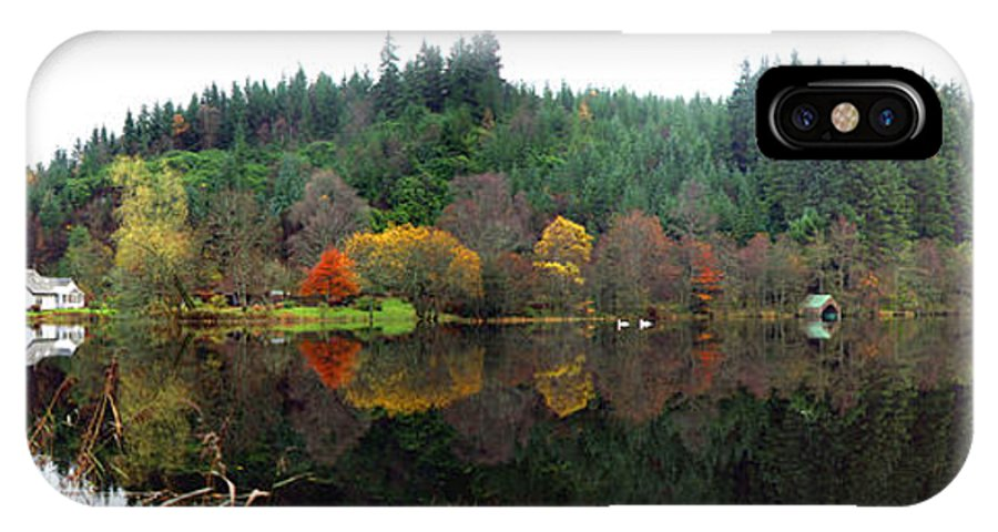 Loch Ard IPhone X Case featuring the photograph Boathouse On Loch Ard by David Cairns