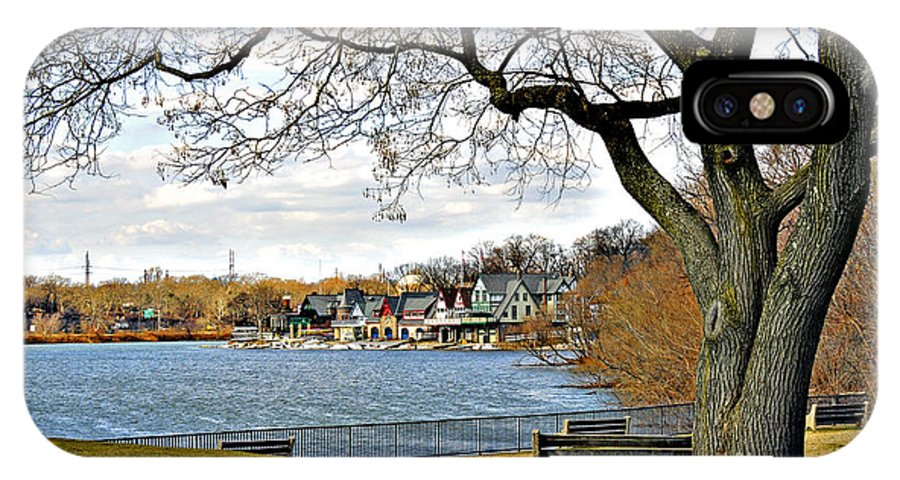 Boathouse Row IPhone X Case featuring the photograph Boathouse Row by Addie Hocynec