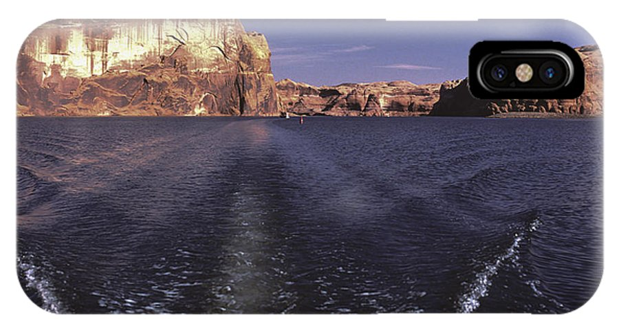 Boating IPhone X Case featuring the photograph Boating On The Colorado River In Glen Canyon Utah Usa by Thomas Stanfill