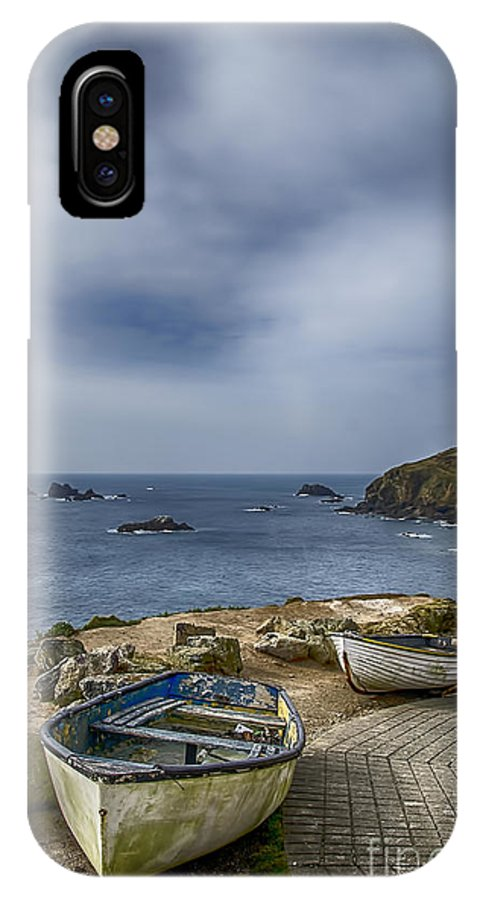 The Lizard IPhone X Case featuring the photograph Boats At The Lizard by Chris Thaxter