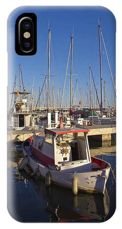 Badalona IPhone X Case featuring the photograph Boats Of Badalona Marina by Kendal Brenneman