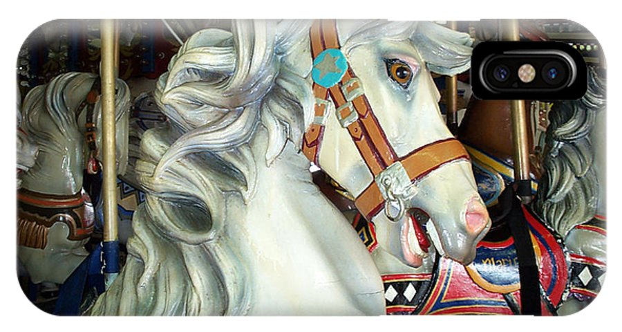 Carousel IPhone X Case featuring the photograph Bob by Barbara McDevitt