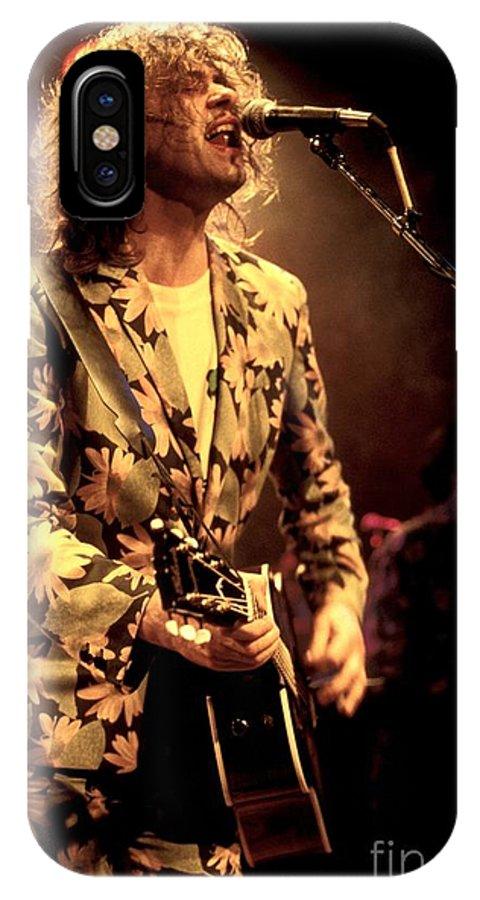 Rock IPhone X Case featuring the photograph Bob Geldof by Concert Photos