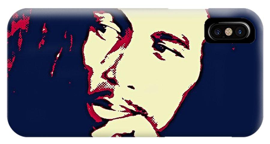 Portrait IPhone X Case featuring the digital art Bob Marley by Dragica Micki Fortuna