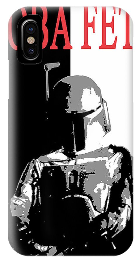 Boba IPhone X Case featuring the digital art Boba Fett- Gangster by Dale Loos Jr