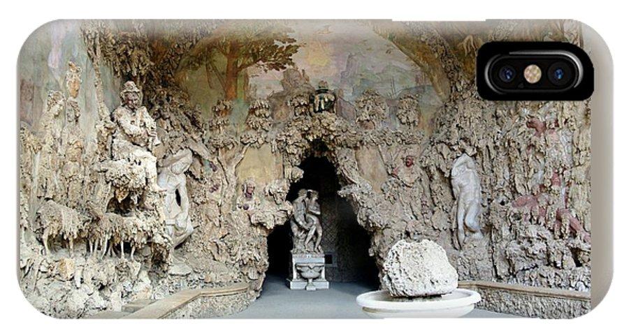 Boboli La Grotto Grande IPhone X Case featuring the photograph Boboli La Grotta Grande 3 by Ellen Henneke