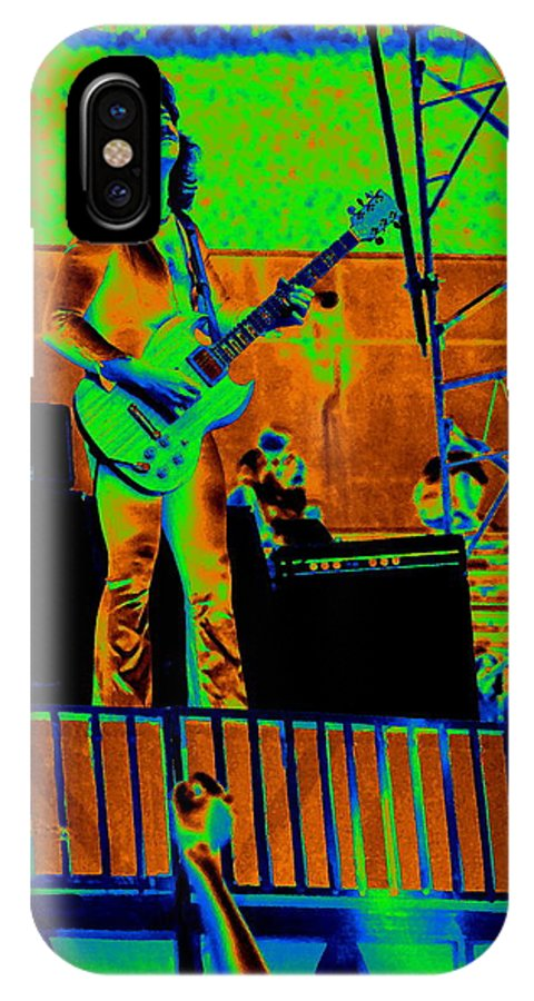 Blue Oyster Cult IPhone X Case featuring the photograph Boc #18 Enhanced In Cosmicolors by Ben Upham