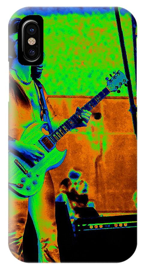 Blue Oyster Cult IPhone X Case featuring the photograph Boc #18 Enhanced In Cosmicolors Crop 2 by Ben Upham