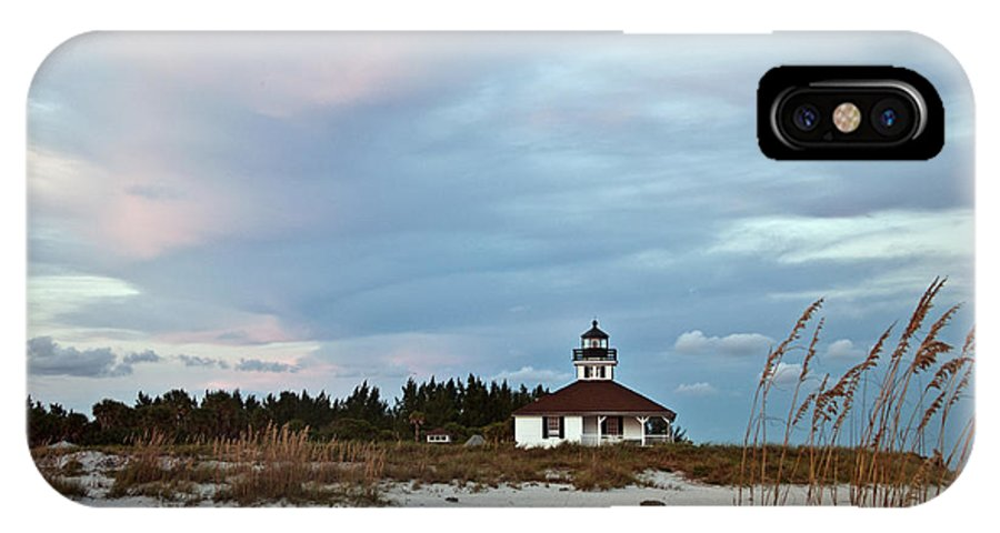 Sunset IPhone X Case featuring the photograph Boca Grande Lighthouse by Sherry Williamson