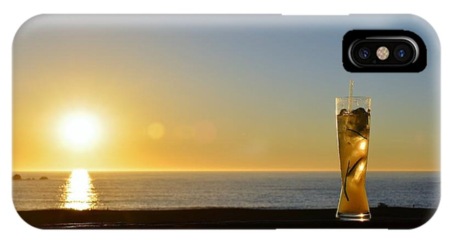 Sunset IPhone X / XS Case featuring the photograph Bodega Bay Sunset by Janet Waltz