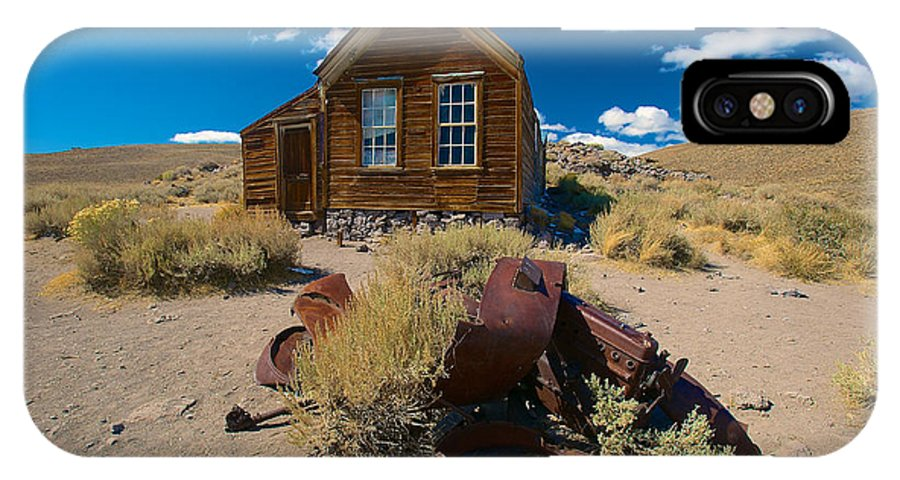 Bodie State Historical Park IPhone X Case featuring the photograph Bodie 3 by Richard J Cassato
