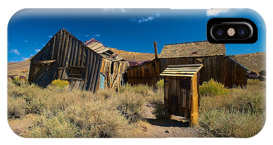 Bodie State Historical Park IPhone X Case featuring the photograph Bodie 5 by Richard J Cassato