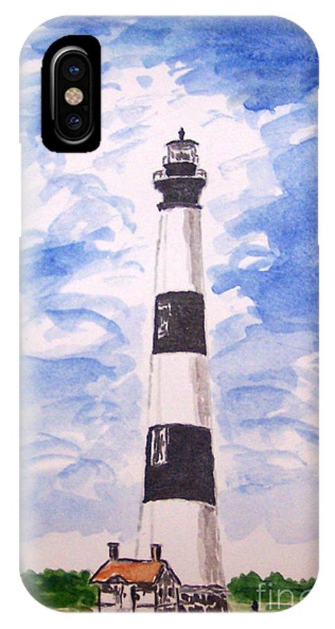 Bodie Island Lighthouse IPhone X Case featuring the mixed media Bodie Island Lighthouse by Kevin Croitz
