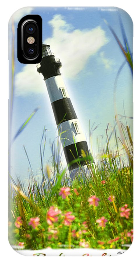 Lighthouse IPhone X Case featuring the photograph Bodie Light II by Mike McGlothlen