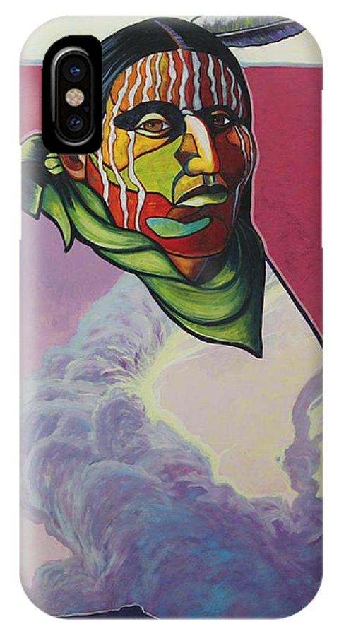 Native American Indian IPhone Case featuring the painting Body And Soul by Joe Triano