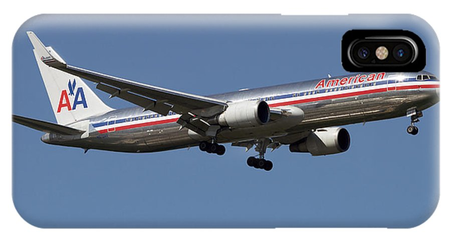 Sky IPhone X Case featuring the photograph Boeing 767 Of American Airlines by Luca Nicolotti