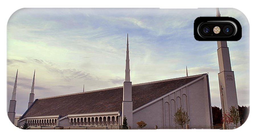Boise IPhone X Case featuring the photograph Boise Idaho Lds Temple by Nathan Abbott