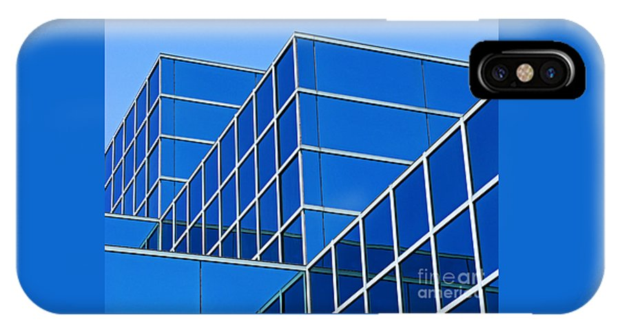 Building IPhone Case featuring the photograph Boldly Blue by Ann Horn