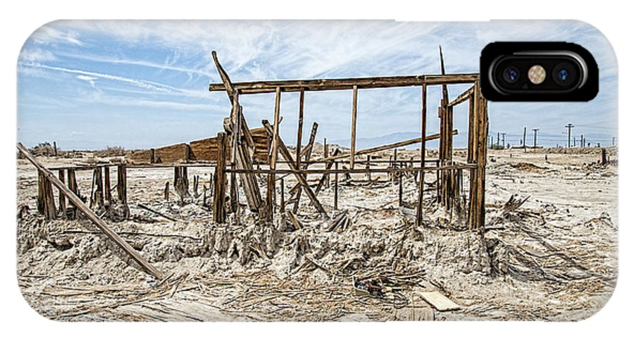 Salton Sea IPhone X Case featuring the photograph Bombay Beach Ruins by Keith Ducker
