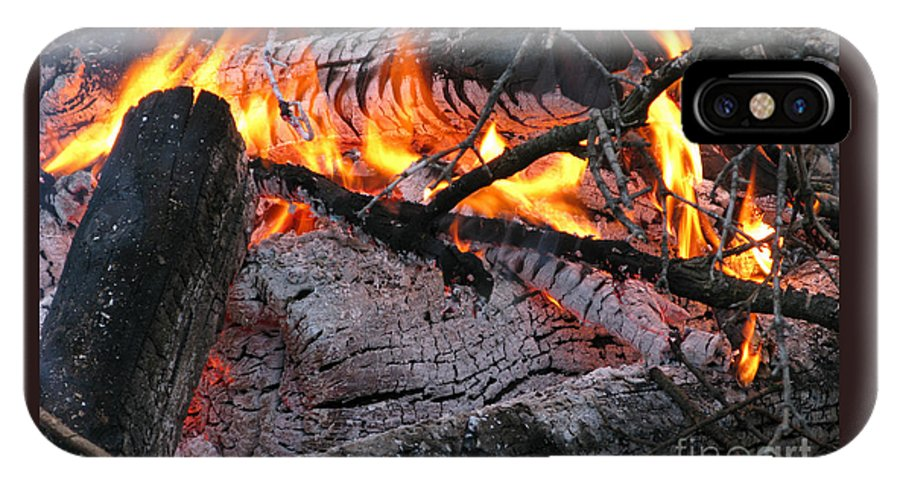 Bonfire IPhone X Case featuring the photograph Bonfire by Ann Horn
