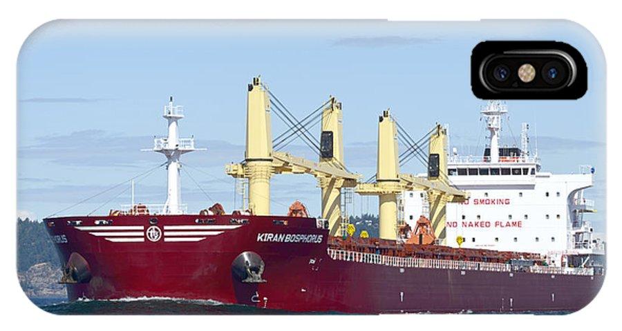 Kiran Bosphorus IPhone X Case featuring the photograph Bosphorus Bow Wave by Bob VonDrachek